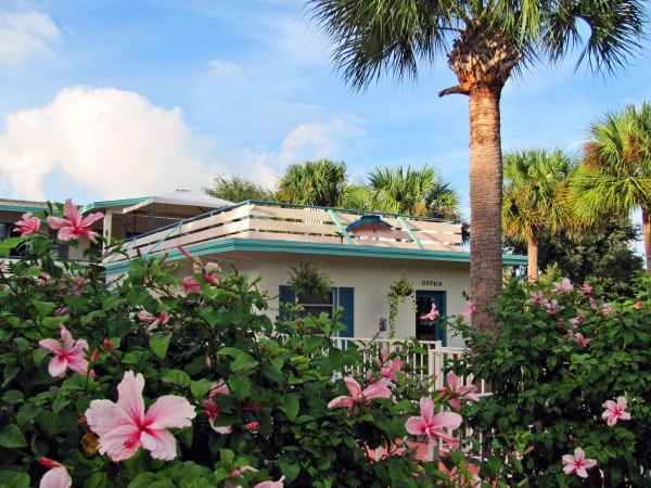 Vero Beach hotels - Office with hibiscus