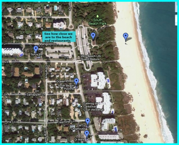 Vero Beach Hotel Map of Sea Spray Inn